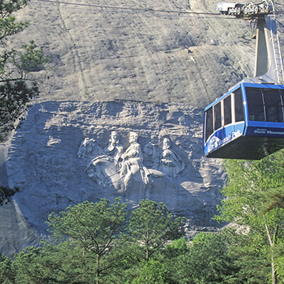Cable car at Stone Mountain Park