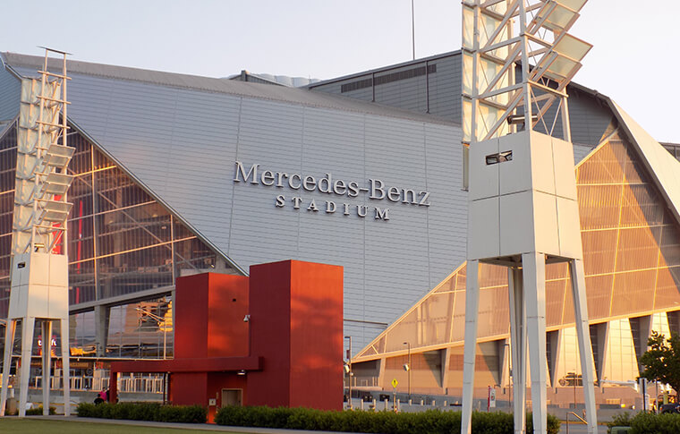 Shot of Mercedes-Benz Stadium