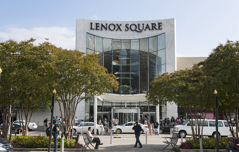 Shot of Lenox Square shopping mall