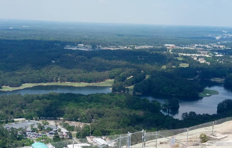 Panoramic view from Stone Mountain