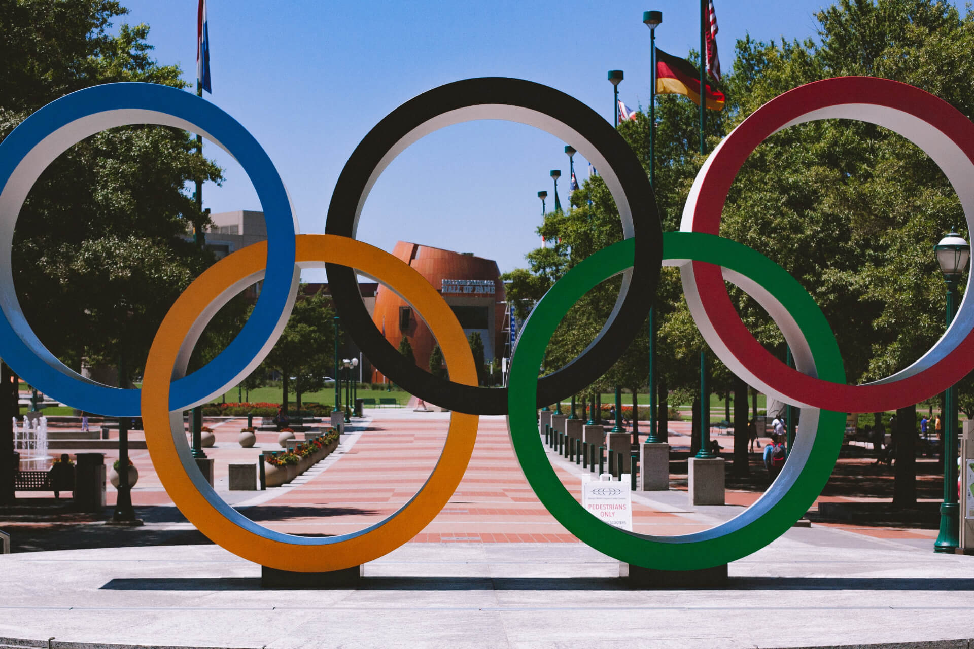 The Olympic rings in Atlanta today